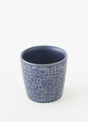 PATTERNED CUP Cobalt Blue(パターンドカップ コバルトブルー)