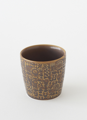 PATTERNED CUP Smoke Brown(パターンドカップ スモークブラウン)