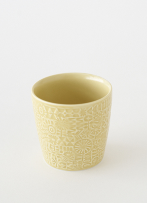 PATTERNED CUP Yellow(パターンドカップ イエロー)